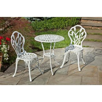 Alfresco Home Tulipano 23 75 In Round Bistro Set