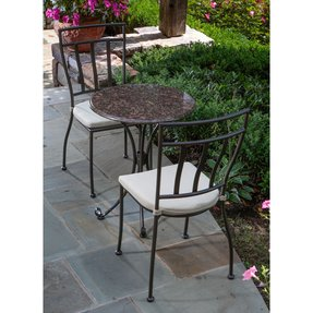 Alfresco Home Ponza Round Granite Bistro Set 24 Inch