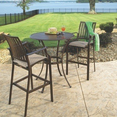 Marvelous Bar Height Patio Furniture Sets Foter. Statesville Pewter 3 Piece ...