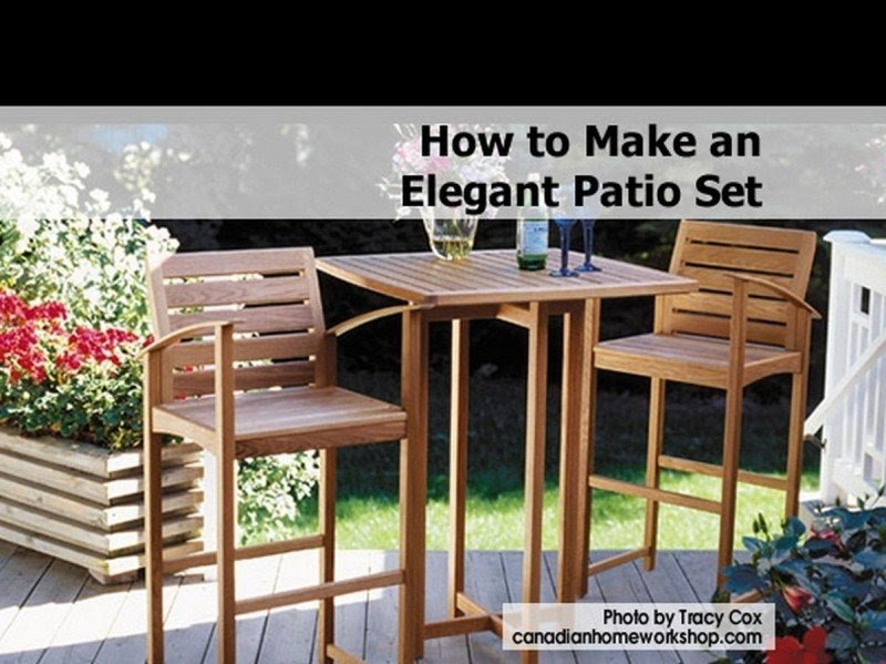 Bar Height Table Plans