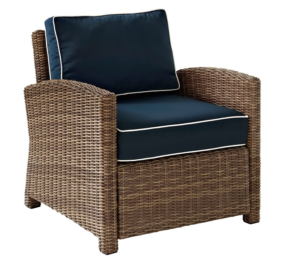 Biltmore Rattan Wicker Navy Cushion Outdoor Armchair