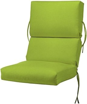 "Bullnose High back Outdoor Chair Cushion, 4""Hx20""Wx44""D, ARUBA SUNBRELLA"