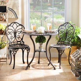 Cast iron patio tables