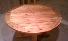 Cedar patio table 1