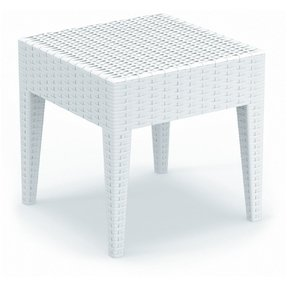 Compamia ISP858-WH Miami Square Resin Side Table in White,