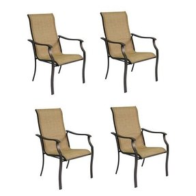 Garden treasures set of 4 eastmoreland textured brown sling seat