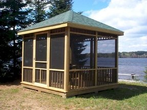 Gazebos with screens