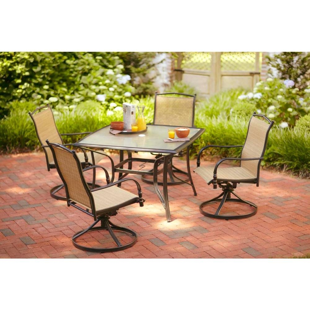 Hampton Bay Altamira Diamond 5 Piece Patio Furniture Dining Set, Seats 4