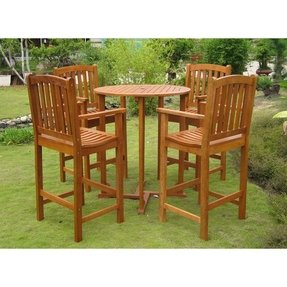 High Top Outdoor Table Set