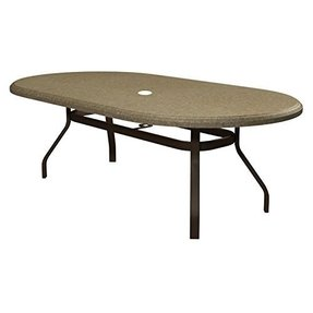 Homecrest Faux Granite Oval Patio Dining Table