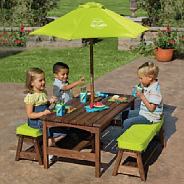 Kids Outdoor Table And Bench