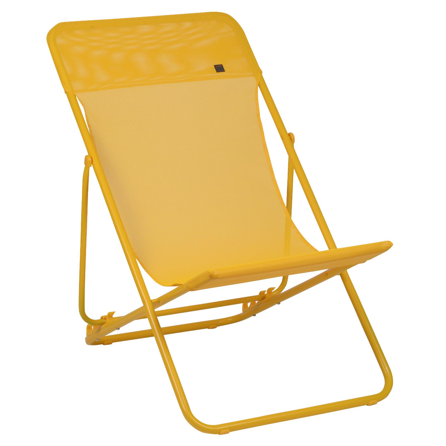 Lafuma Maxi Transat Deck Chair, Banana   SET OF 2