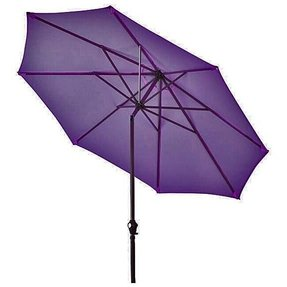 Lauren co aluminum purple patio umbrella