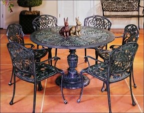 cast iron patio furniture sets foter