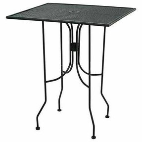 "Metal Bar Height Outdoor Table 36"" Square Black Paint"