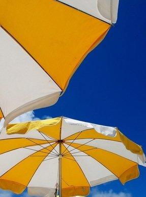 Orange Patio Umbrellas