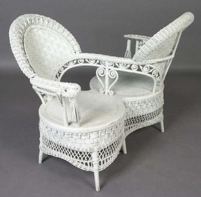 White Wicker Chairs Foter