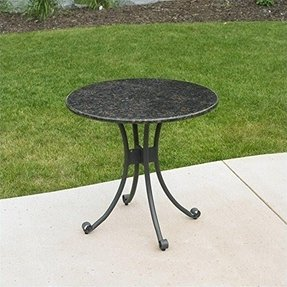 Outdoor Great Room Patio Bistro Table with Granite Top