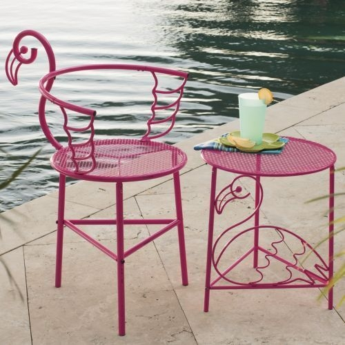 Pink patio chairs 1