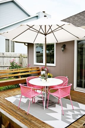 Pink patio chairs 2