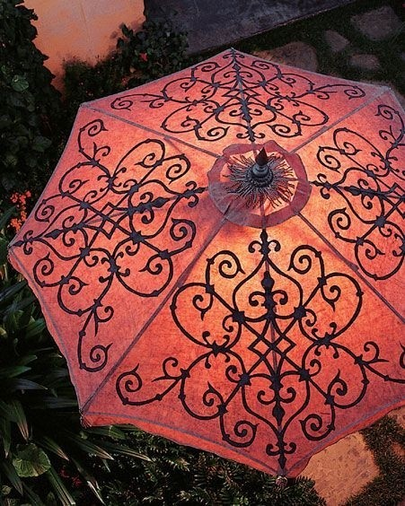 Pink Patio Umbrella 1