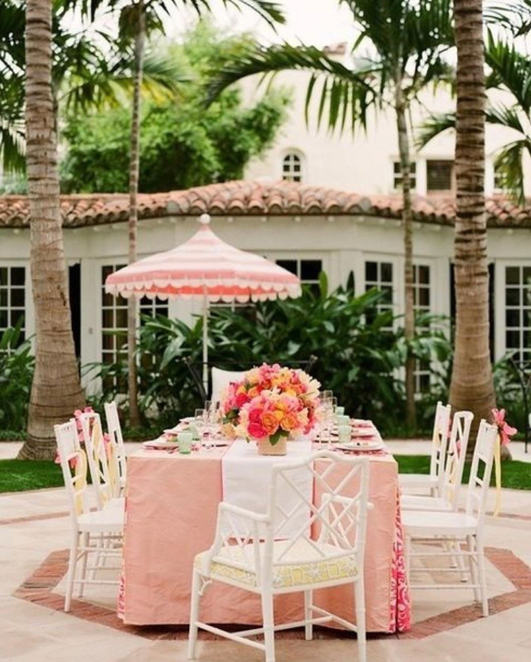 Pink Patio Umbrella