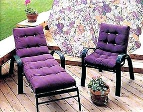 Purple patio cushions 3