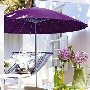Purple patio umbrellas 1