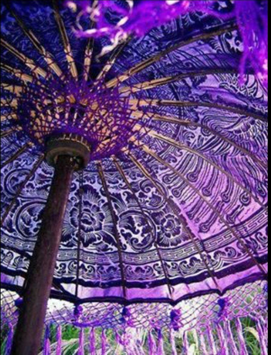 Purple Patio Umbrellas