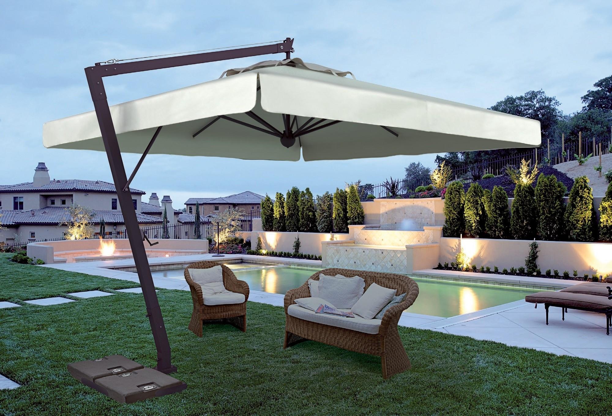 Charming Rectangular Patio Umbrellas