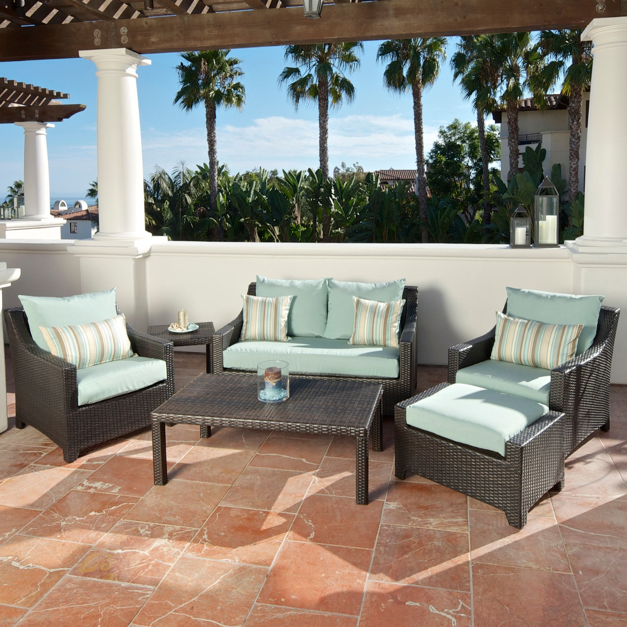 Red patio furniture sets 12