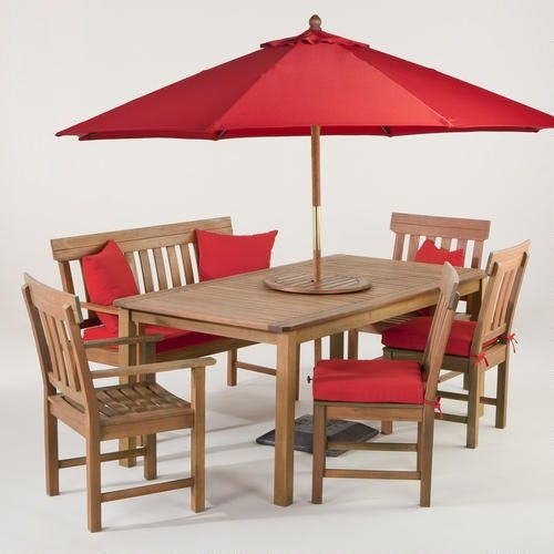 Red Patio Furniture Sets 3