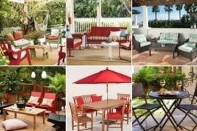 Red patio furniture sets