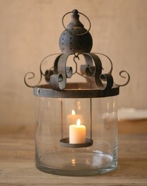 Rustic candlestick holders