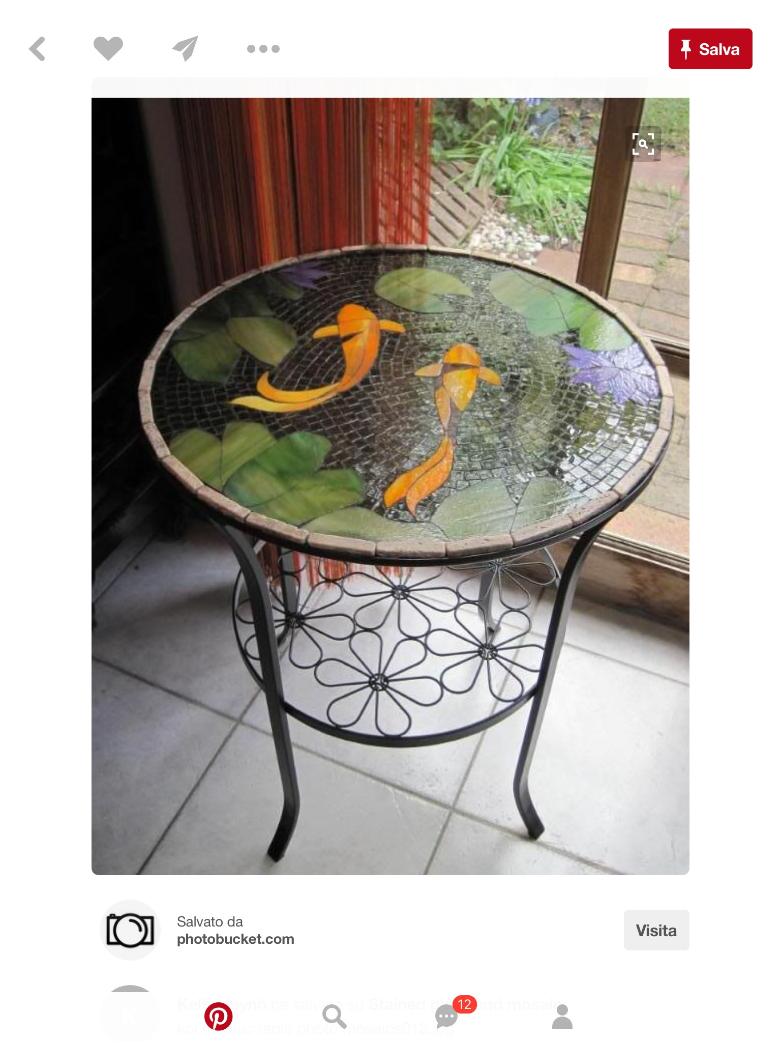 Superbe Spray Paint Glass Patio Table