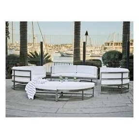 Stainless steel outdoor table and chairs
