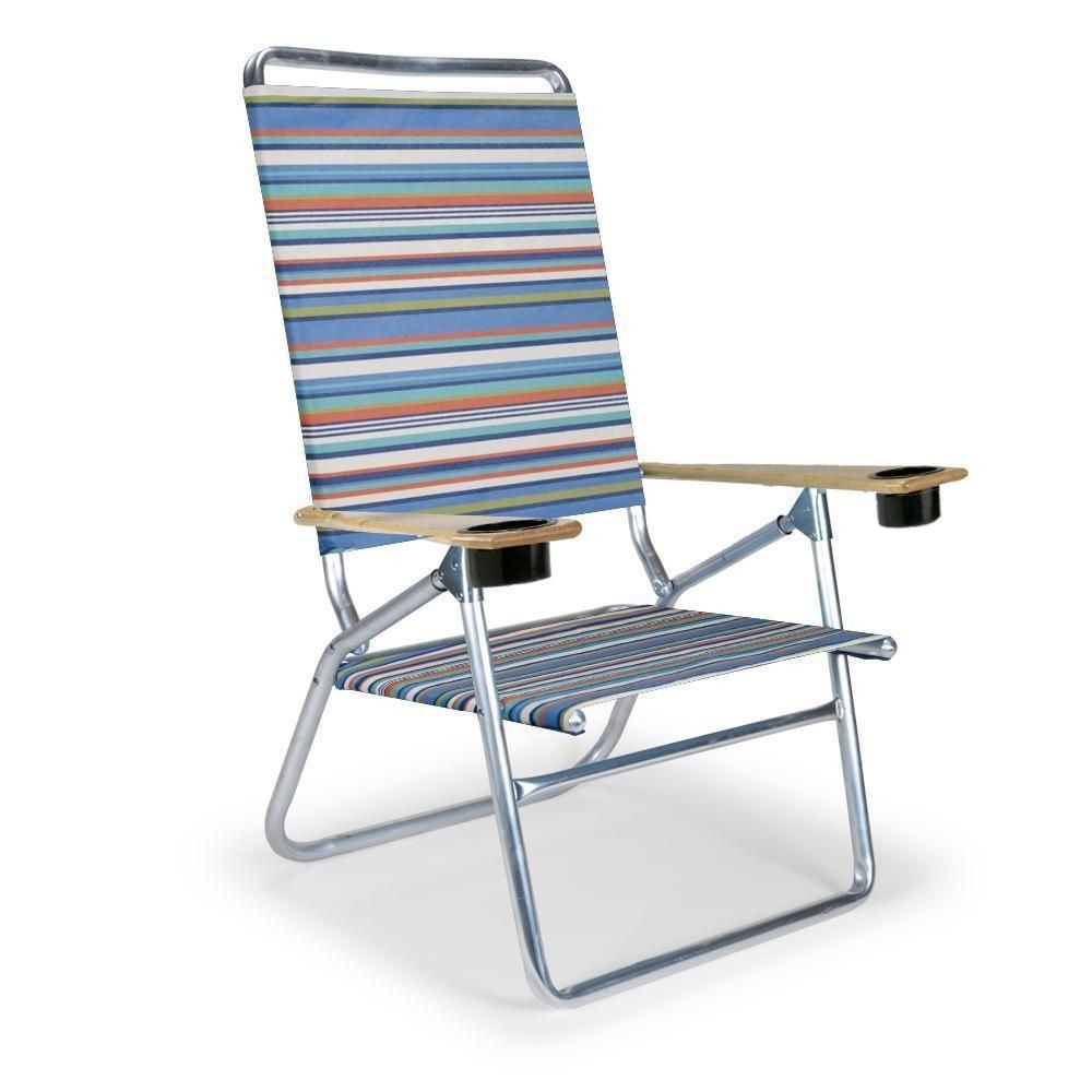 Exceptional Telescope Casual Light And Easy High Boy Folding Beach Arm Chair With Cup  Holders, Aqua