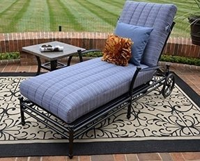 The Amia Collection Cast Aluminum Patio Furniture Chaise Lounge
