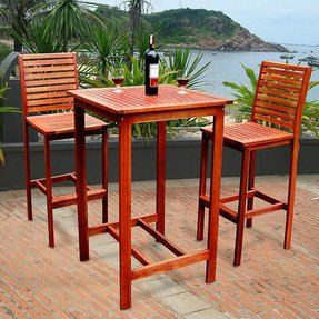 Stupendous Outdoor Bar Height Table Ideas On Foter Theyellowbook Wood Chair Design Ideas Theyellowbookinfo
