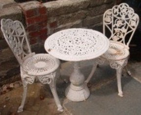 white cast iron patio furniture.  Cast Wrought Iron Garden Furniture Ebay Inside White Cast Iron Patio Furniture