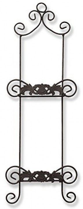 2 Tier Plate Rack Black Metal Wire Wrought Iron with Swirling Spiral Scroll Design 27   sc 1 st  Foter & Wrought Iron Racks - Foter