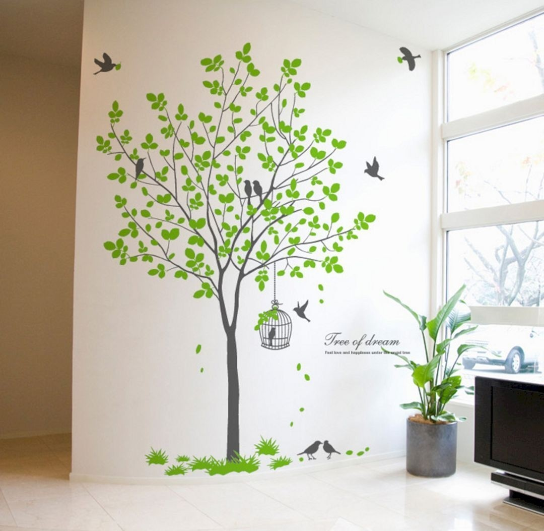 Tall Tree Wall Decals   Ideas On Foter