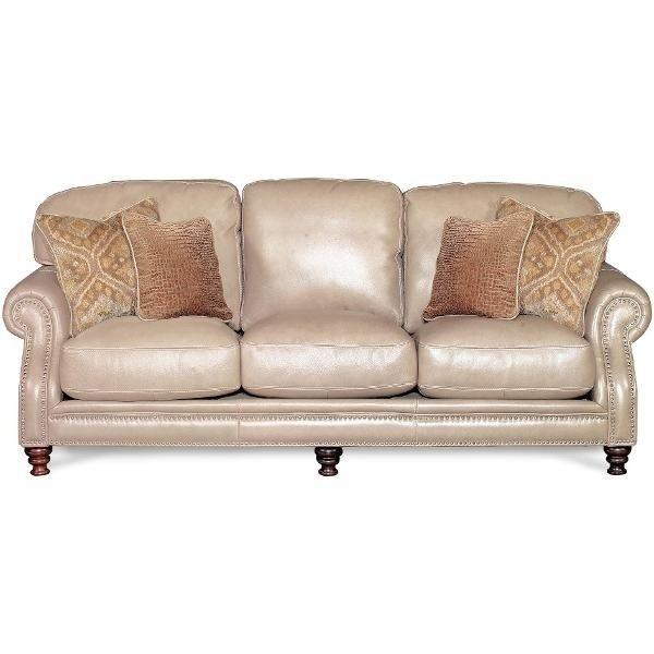 92 Taupe Leather Sofa