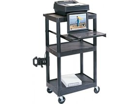 Adjustable computer cart