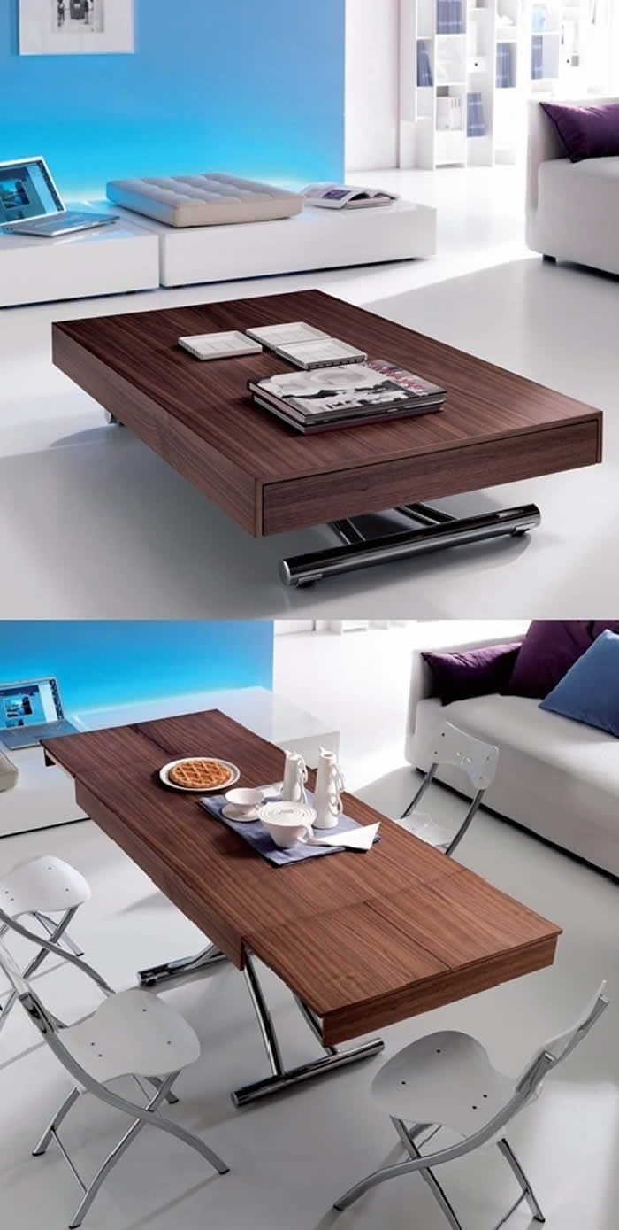Adjustable Height Coffee Dining Table