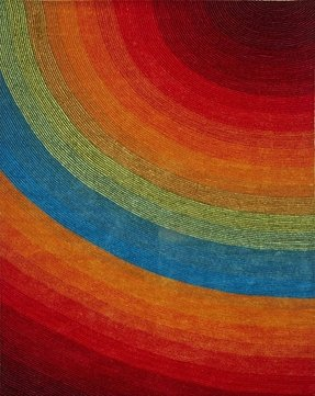 Artistry Rainbow Quarter Circle Kids Area Rug