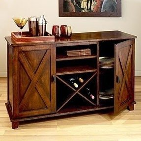 Bar buffet wine rack