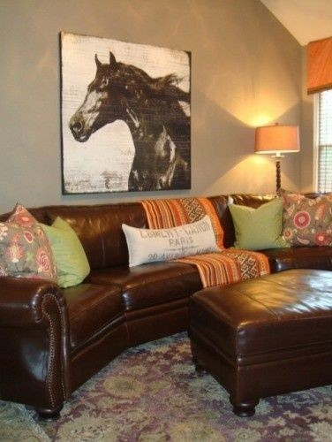 Black Leather Sofa With Nailhead Trim