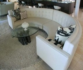 Conversation Pit Sectional Modern Design For A Half Circle Sofa