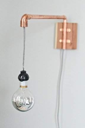 Copper wall sconce 5